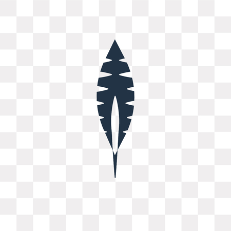 Feather vector icon isolated on transparent background, Feather transparency concept can be used web and mobile