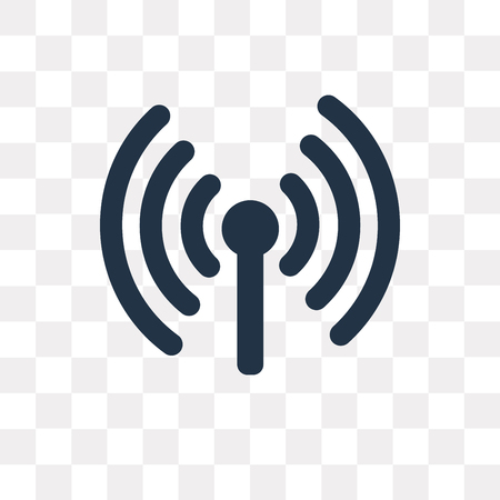 Wifi vector icon isolated on transparent background, Wifi transparency concept can be used web and mobile