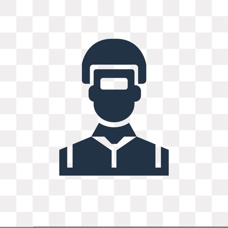 Welder vector icon isolated on transparent background, Welder transparency concept can be used web and mobile Illustration