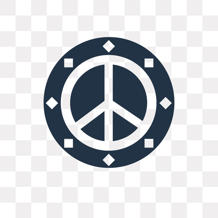 Peace vector icon isolated on transparent background, Peace transparency concept can be used web and mobile Stock Illustratie