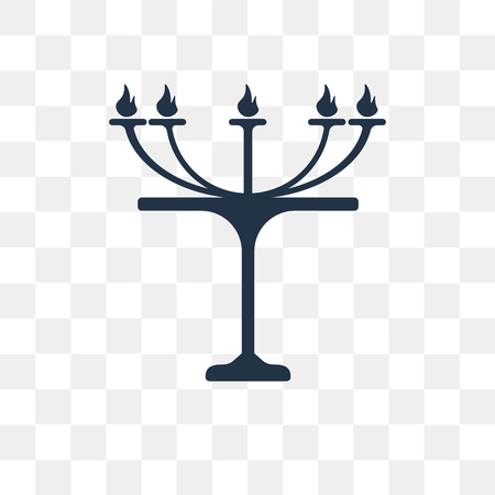 Judaism vector icon isolated on transparent background, Judaism transparency concept can be used web and mobile Illustration