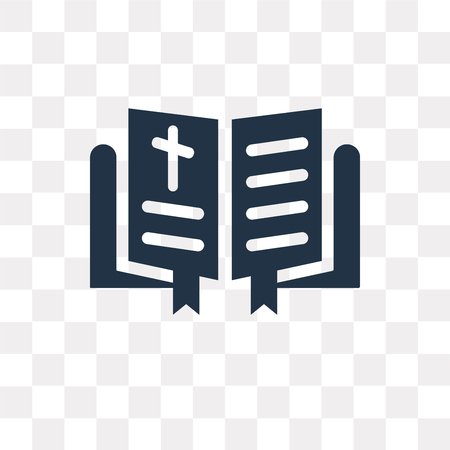 Bible vector icon isolated on transparent background, Bible transparency concept can be used web and mobile Ilustração