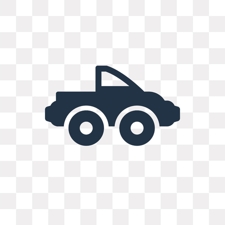 Pickup truck vector icon isolated on transparent background, Pickup truck transparency concept can be used web and mobile Illustration