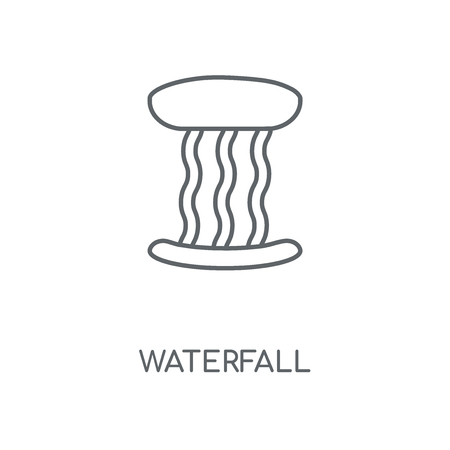 Waterfall linear icon. Waterfall concept stroke symbol design. Thin graphic elements vector illustration, outline pattern on a white background, eps 10. Ilustrace
