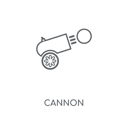 Cannon linear icon. Cannon concept stroke symbol design. Thin graphic elements vector illustration, outline pattern on a white background, eps 10. Vectores