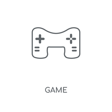 Game linear icon. Game concept stroke symbol design. Thin graphic elements vector illustration, outline pattern on a white background, eps 10. Ilustração