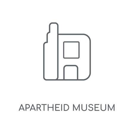 Apartheid museum linear icon. Apartheid museum concept stroke symbol design. Thin graphic elements vector illustration, outline pattern on a white background, eps 10. Иллюстрация