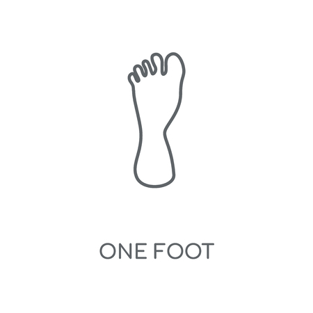 One Foot linear icon. One Foot concept stroke symbol design. Thin graphic elements vector illustration, outline pattern on a white background, eps 10.