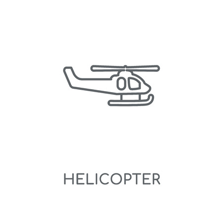 Helicopter linear icon. Helicopter concept stroke symbol design. Thin graphic elements vector illustration, outline pattern on a white background, eps 10.