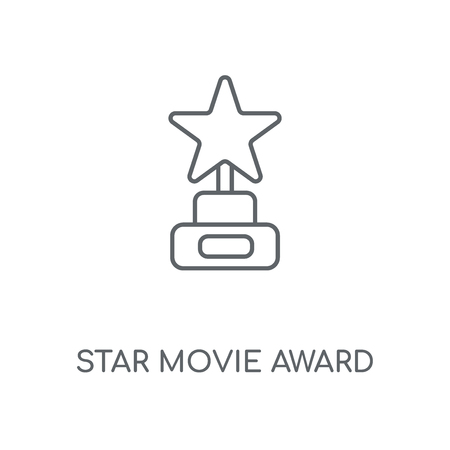 Star Movie Award linear icon. Star Movie Award concept stroke symbol design. Thin graphic elements vector illustration, outline pattern on a white background, eps 10.