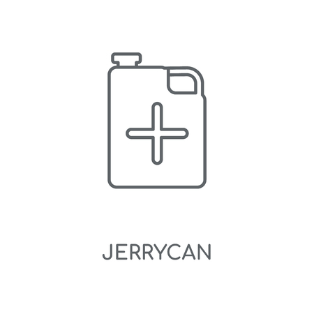 Jerrycan linear icon. Jerrycan concept stroke symbol design. Thin graphic elements vector illustration, outline pattern on a white background, eps 10.