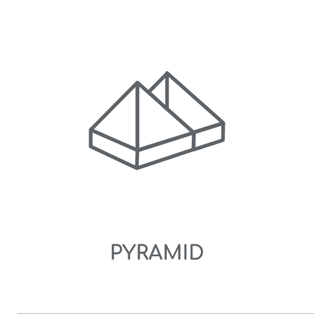 Pyramid linear icon. Pyramid concept stroke symbol design. Thin graphic elements vector illustration, outline pattern on a white background, eps 10.