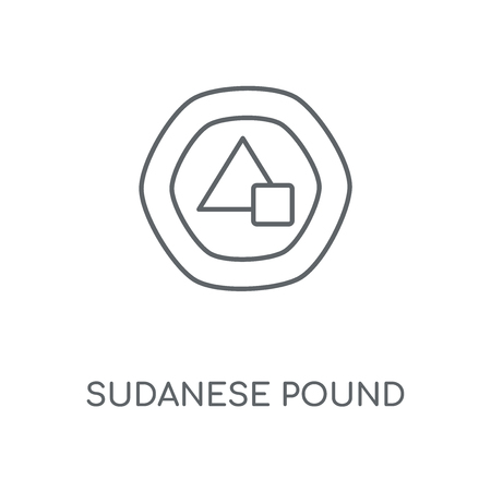 Sudanese Pound linear icon. Sudanese Pound concept stroke symbol design. Thin graphic elements vector illustration, outline pattern on a white background, eps 10.