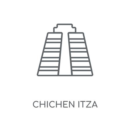 Chichen Itza linear icon. Chichen Itza concept stroke symbol design. Thin graphic elements vector illustration, outline pattern on a white background, eps 10.