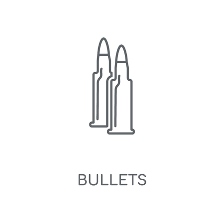 Bullets linear icon. Bullets concept stroke symbol design. Thin graphic elements vector illustration, outline pattern on a white background, eps 10.