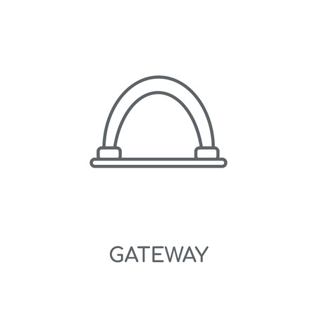 Gateway linear icon. Gateway concept stroke symbol design. Thin graphic elements vector illustration, outline pattern on a white background, eps 10. 向量圖像