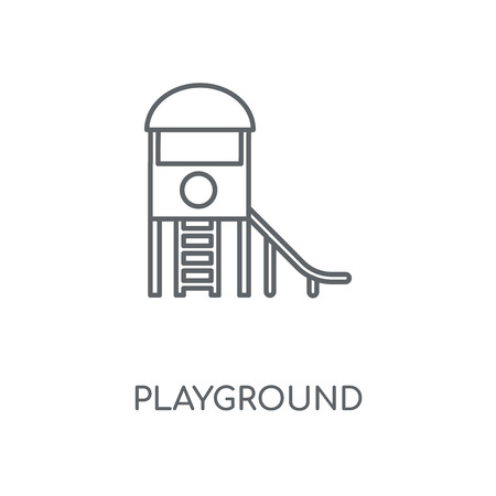 Playground linear icon. Playground concept stroke symbol design. Thin graphic elements vector illustration, outline pattern on a white background, eps 10.
