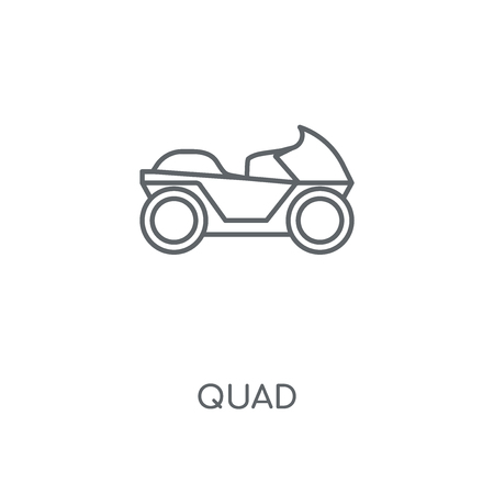Quad linear icon. Quad concept stroke symbol design. Thin graphic elements vector illustration, outline pattern on a white background, eps 10.
