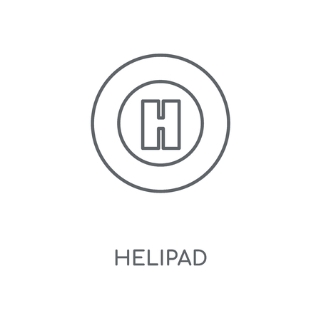 Helipad linear icon. Helipad concept stroke symbol design. Thin graphic elements vector illustration, outline pattern on a white background, eps 10. Illustration