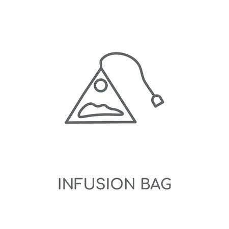 Infusion Bag linear icon. Infusion Bag concept stroke symbol design. Thin graphic elements vector illustration, outline pattern on a white background, eps 10.