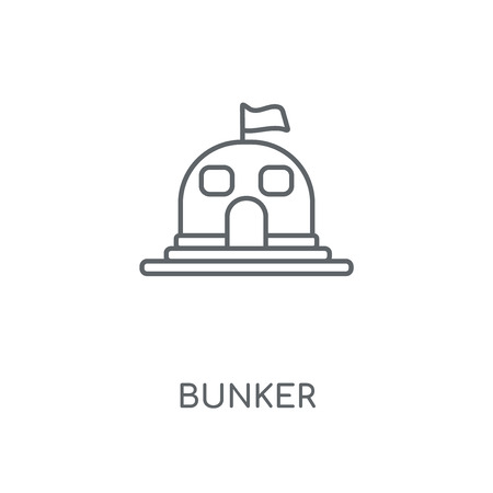 Bunker linear icon. Bunker concept stroke symbol design. Thin graphic elements vector illustration, outline pattern on a white background, eps 10.
