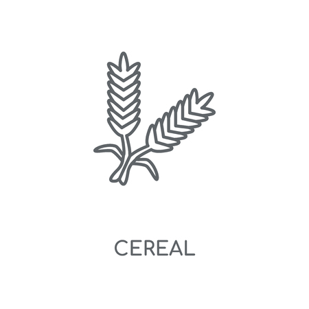 Cereal linear icon. Cereal concept stroke symbol design. Thin graphic elements vector illustration, outline pattern on a white background, eps 10.