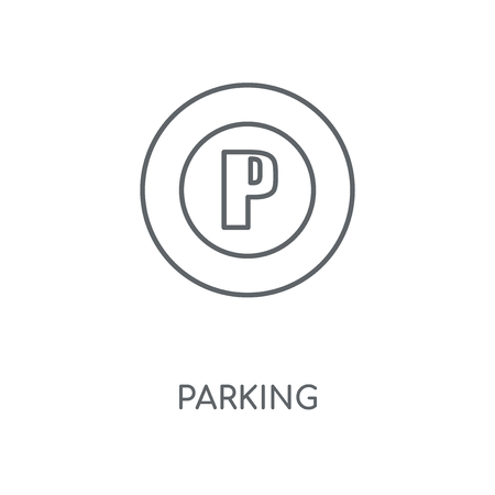 Parking linear icon. Parking concept stroke symbol design. Thin graphic elements vector illustration, outline pattern on a white background, eps 10.