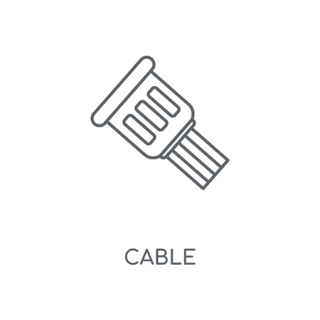 Cable linear icon. Cable concept stroke symbol design. Thin graphic elements vector illustration, outline pattern on a white background, eps 10. Illusztráció