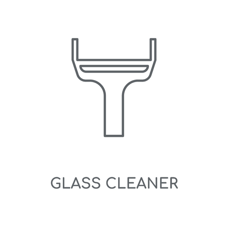 Glass cleaner linear icon. Glass cleaner concept stroke symbol design. Thin graphic elements vector illustration, outline pattern on a white background, eps 10.