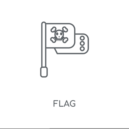Flag linear icon. Flag concept stroke symbol design. Thin graphic elements vector illustration, outline pattern on a white background, eps 10.