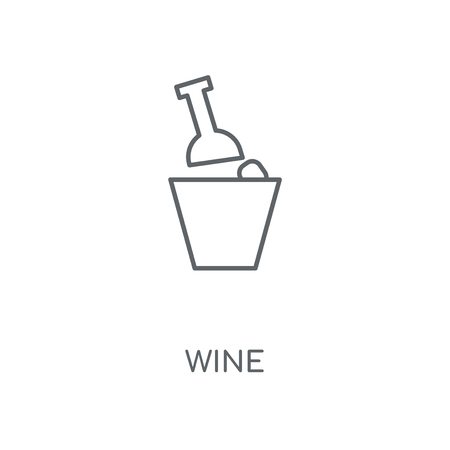 Wine linear icon. Wine concept stroke symbol design. Thin graphic elements vector illustration, outline pattern on a white background, eps 10. Illustration