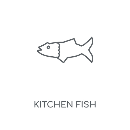 Kitchen Fish linear icon. Kitchen Fish concept stroke symbol design. Thin graphic elements vector illustration, outline pattern on a white background, eps 10.