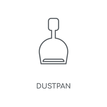 Dustpan linear icon. Dustpan concept stroke symbol design. Thin graphic elements vector illustration, outline pattern on a white background, eps 10.