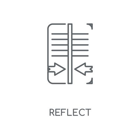 Reflect linear icon. Reflect concept stroke symbol design. Thin graphic elements vector illustration, outline pattern on a white background, eps 10.