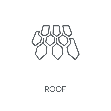 Roof linear icon. Roof concept stroke symbol design. Thin graphic elements vector illustration, outline pattern on a white background, eps 10.