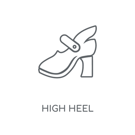High Heel linear icon. High Heel concept stroke symbol design. Thin graphic elements vector illustration, outline pattern on a white background, eps 10. Çizim