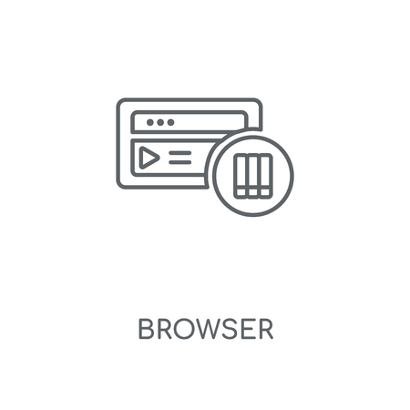 Browser linear icon. Browser concept stroke symbol design. Thin graphic elements vector illustration, outline pattern on a white background, eps 10.