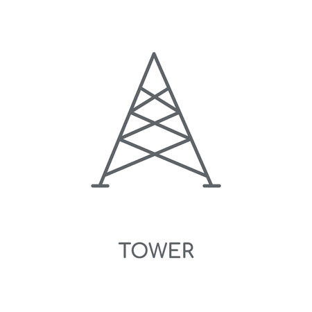 Tower linear icon. Tower concept stroke symbol design. Thin graphic elements vector illustration, outline pattern on a white background, eps 10.