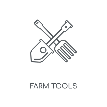 Farm Tools linear icon. Farm Tools concept stroke symbol design. Thin graphic elements vector illustration, outline pattern on a white background, eps 10.  イラスト・ベクター素材