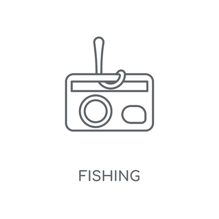Fishing linear icon. Fishing concept stroke symbol design. Thin graphic elements vector illustration, outline pattern on a white background, eps 10.