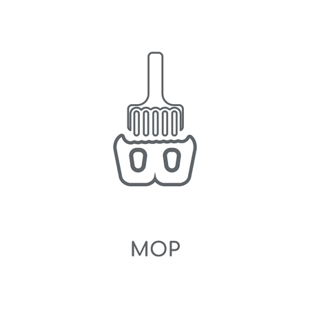 Mop linear icon. Mop concept stroke symbol design. Thin graphic elements vector illustration, outline pattern on a white background, eps 10. Çizim