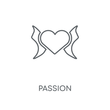 Passion linear icon. Passion concept stroke symbol design. Thin graphic elements vector illustration, outline pattern on a white background, eps 10.