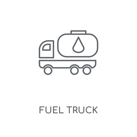 Fuel Truck linear icon. Fuel Truck concept stroke symbol design. Thin graphic elements vector illustration, outline pattern on a white background, eps 10. Çizim