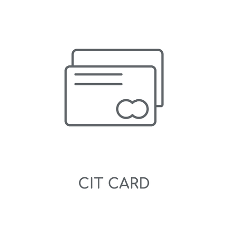 Credit card linear icon. Credit card concept stroke symbol design. Thin graphic elements vector illustration, outline pattern on a white background, eps 10.