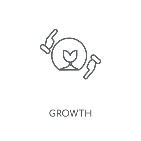 Growth linear icon. Growth concept stroke symbol design. Thin graphic elements vector illustration, outline pattern on a white background, eps 10.