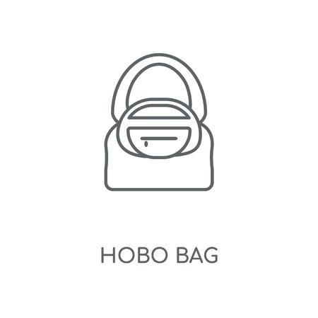 Hobo Bag linear icon. Hobo Bag concept stroke symbol design. Thin graphic elements vector illustration, outline pattern on a white background, eps 10.