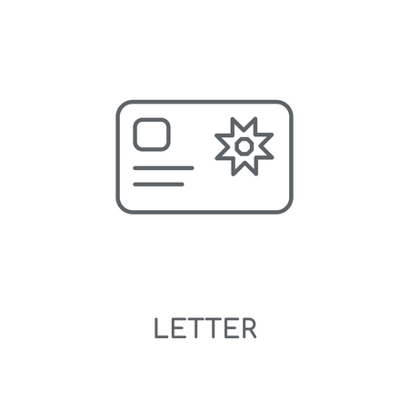 Letter linear icon. Letter concept stroke symbol design. Thin graphic elements vector illustration, outline pattern on a white background, eps 10. Çizim