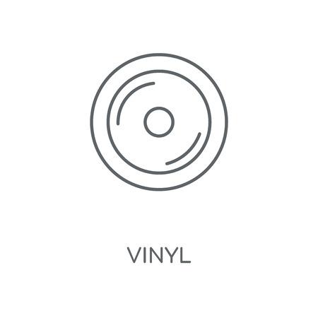 Vinyl linear icon. Vinyl concept stroke symbol design. Thin graphic elements vector illustration, outline pattern on a white background, eps 10. Çizim