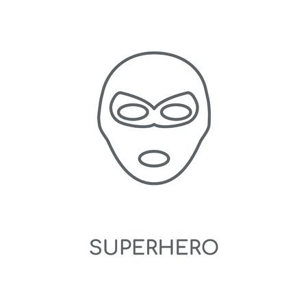 Superhero linear icon. Superhero concept stroke symbol design. Thin graphic elements vector illustration, outline pattern on a white background, eps 10.