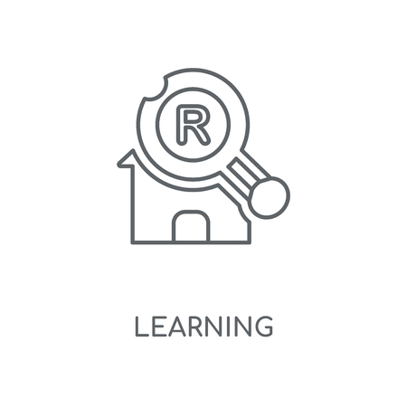 Learning linear icon. Learning concept stroke symbol design. Thin graphic elements vector illustration, outline pattern on a white background, eps 10.